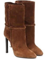 Saint Laurent - Mica 105 Suede Ankle Boots - Lyst ac33f4cac