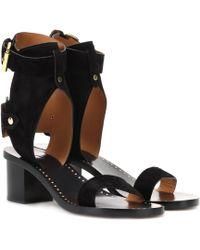 Isabel Marant Jaeryn Suede Sandals - Black