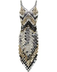 Paco Rabanne Sequined Midi Dress - Metallic