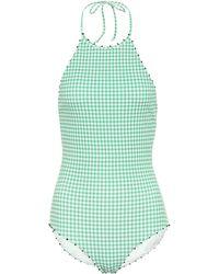 Marysia Swim Exclusivo en Mytheresa – bañador French Mott de cuadros - Verde