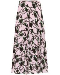 Valentino X Undercover Silk Midi Skirt - Pink