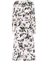 Diane von Furstenberg Vestido midi Elle de seda floral - Multicolor