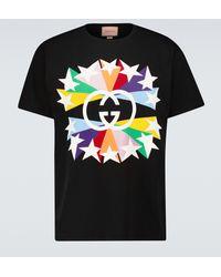 Gucci T-shirt GG étoile en coton - Noir