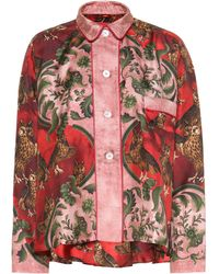 F.R.S For Restless Sleepers Ipno Printed Silk Pajama Top - Red