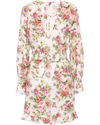 Zimmermann - Radiate Floral-printed Linen Dress - Lyst