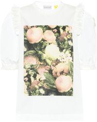 Moncler Genius T-shirt imprimé en coton 4 MONCLER SIMONE ROCHA - Blanc
