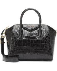 Givenchy Tote Antigona Small de piel grabada - Negro