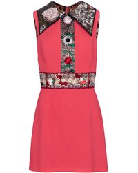 Dolce & Gabbana Miniabito in lana - Rosso