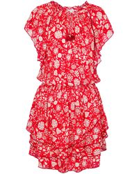 Poupette Exclusive To Mytheresa – Elsa Floral Minidress - Red