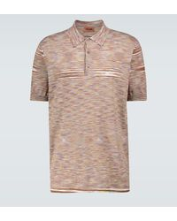 Missoni Short-sleeved Knitted Polo Shirt - Brown