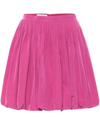 Valentino Taffeta Miniskirt - Pink
