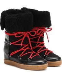 Isabel Marant Nowly Boots Leather Black - Schwarz