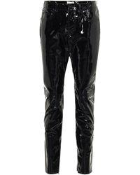 Saint Laurent Patent-leather Skinny Pants - Black
