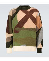 Sacai Jersey x KAWS de lana - Verde