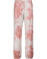 Velvet Pantaloni sportivi tie-dye Nissa in cotone - Rosa