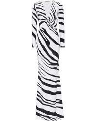 Roberto Cavalli Zebra-printed Stretch Jersey Gown - Multicolour