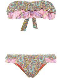 Etro - Printed Bikini - Lyst