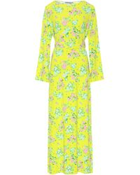 BERNADETTE Monica Floral Midi Dress - Yellow