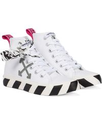 Off-White c/o Virgil Abloh - Exklusiv bei Mytheresa – High-Top-Sneakers Vulcanized aus Canvas - Lyst