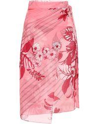 Etro Wickelrock aus Baumwolle und Seide - Pink