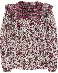 Ulla Johnson - Dalma Printed Cotton And Silk Blouse - Lyst