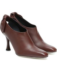 Proenza Schouler Exclusive To Mytheresa – Leather Ankle Boots - Brown