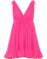 Balenciaga Jersey Babydoll Dress - Pink