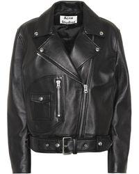 Acne Studios - Boxy Biker Jacket - Lyst