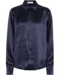 Balenciaga Blusa de seda - Azul