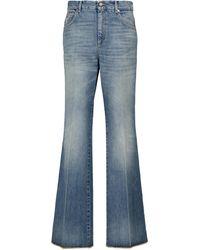 Gucci High-rise Flared Jeans - Blue