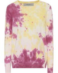 Golden Goose Deluxe Brand Tie-dye Cotton-blend Sweatshirt - Purple
