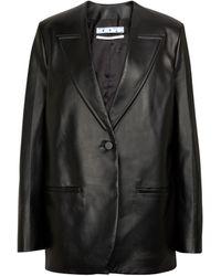 Off-White c/o Virgil Abloh Veste en cuir - Noir