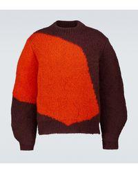 Jil Sander Jersey en mezcla de mohair - Rojo