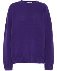 Acne Studios Pullover aus Wolle - Lila