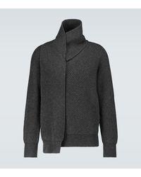 Alexander McQueen Wool Scarf Jumper - Grey
