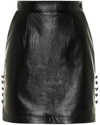 Materiel Tbilisi Faux Leather Miniskirt - Black