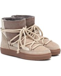 Inuikii Suede Ankle Boots - Natural