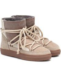 Inuikii Sneaker Suede Boots - Natural