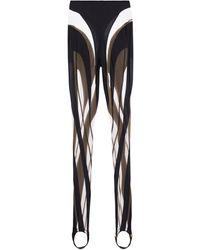 Mugler - Leggings in jersey e mesh - Lyst