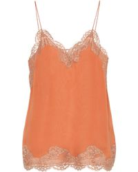 Chloé - Lace-trimmed Camisole - Lyst