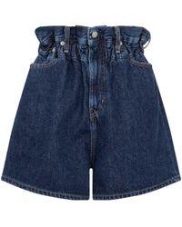 Ganni X Levi's® High-rise Denim Shorts - Blue