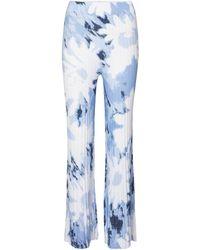 Sir. The Label Freya Printed Wide-leg Trousers - Blue