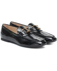 Tod's Loafers aus Lackleder - Schwarz