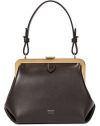 Khaite Agnes Small Leather Tote - Brown