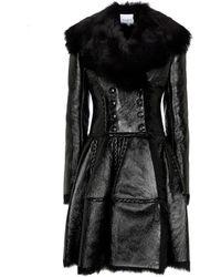 Alaïa Manteau en shearling - Noir