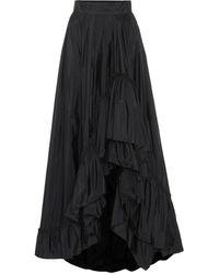 Max Mara Abadan Taffeta Maxi Skirt - Black