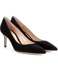 Gianvito Rossi - Gianvito 70 Suede Pumps - Lyst