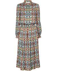 Tory Burch Printed Crêpe Midi Dress - Multicolour