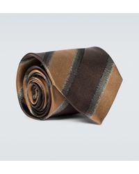 Dries Van Noten Striped Silk Tie - Multicolour
