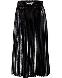 Dolce & Gabbana Gonna midi plissé in lamé - Nero